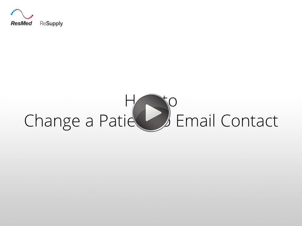 RRS-How to change a patient to email contact