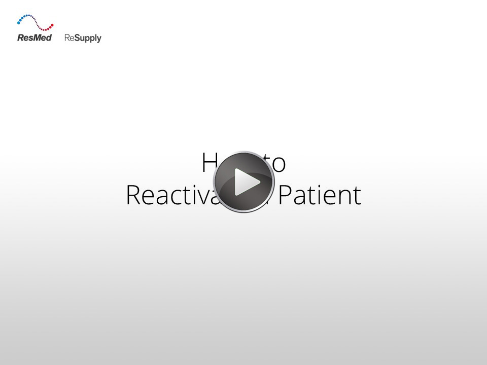 RRS-How to reactivate a patient