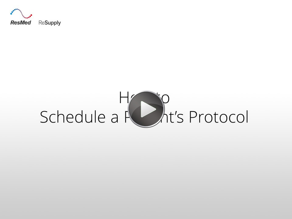 RRS-How to schedule a patient's protocol