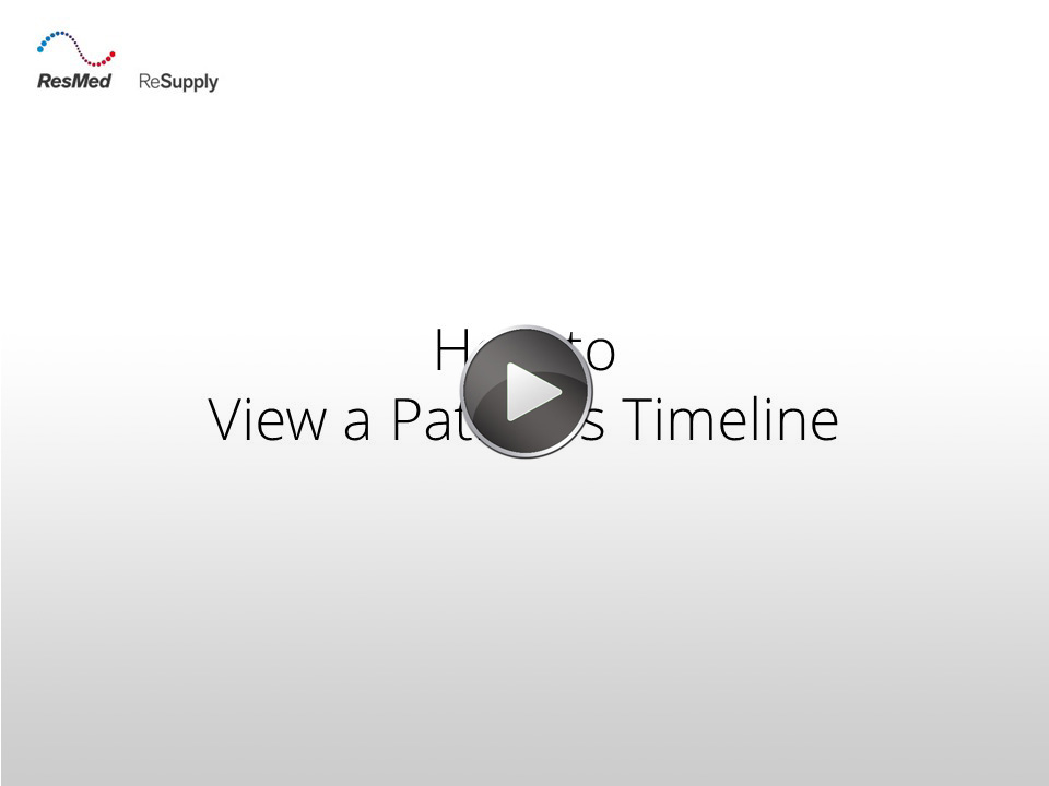 RRS-How to view a patient's timeline
