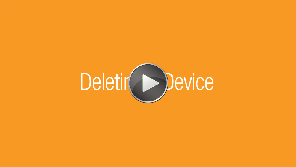 Deleting a Device